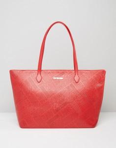 Сумка-тоут с логотипом Love Moschino - Красный