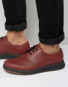 Туфли с 3 парами люверсов Dr Martens Lite Cavendish - Красный
