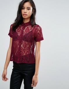 Кружевная рубашка с короткими рукавами Hedonia - Красный