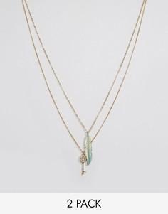 Набор из 2 ожерелий DesignB - Золотой