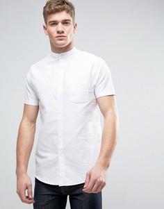 Оксфордская рубашка с короткими рукавами и воротником на пуговице Brave Soul - Белый