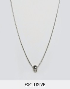 Серебристое ожерелье с подвеской-черепом DesignB - Серебряный