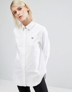 Оксфордская рубашка Fred Perry - Белый