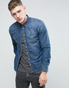 Узкая рубашка Pepe Carson - Синий
