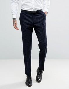 Суперузкие брюки в горошек Noak - Темно-синий