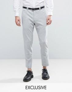 Трикотажные суженные книзу брюки скинни Noak - Серый