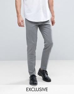 Жаккардовые брюки скинни Noak - Темно-синий
