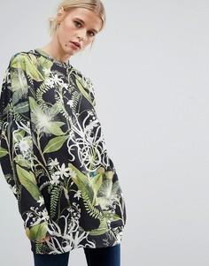 Свитшот с цветочным принтом Weekday - Мульти