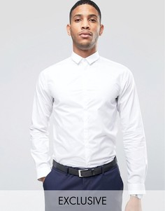 Рубашка скинни с маленьким воротником Noak - Белый