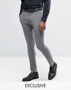 Супероблегающие брюки в ломаную клетку Religion - Серый