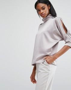 Блузка с вырезами Y.A.S - Серебряный