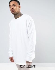 Свободный белый свитшот Mennace - Белый