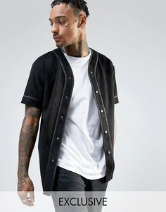 Черная рубашка из искусственной замши Mennace - Черный