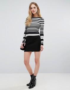 Фактурная юбка-карандаш Unique 21 - Черный