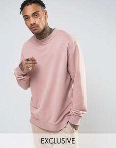 Розовый свитшот с заниженной линией плеч Mennace - Розовый