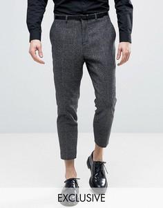 Суженные брюки в клеточку Heart & Dagger - Серый