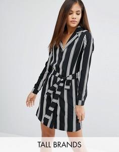 Платье-рубашка в полоску Influence Tall - Черный