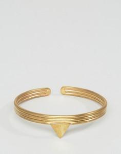 Браслет с треугольником Made - Золотой