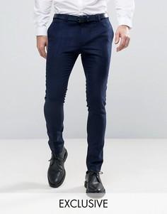 Супероблегающие строгие брюки Noak - Темно-синий