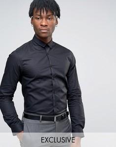 Суперузкая рубашка с длинными рукавами и закругленным низом Noak - Черный