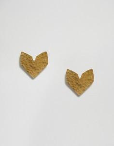 Серьги-гвоздики Made Khavesti - Золотой