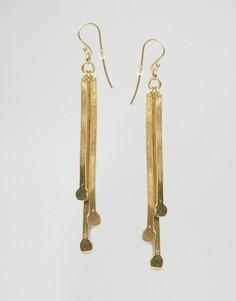 Серьги-подвески Made Ndonondono - Золотой