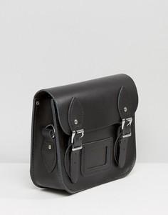 Небольшая сумка сэтчел с заклепками на ремешке Leather Satchel Company - Серебряный