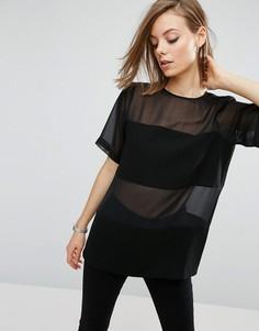 Тканая футболка ASOS - Черный