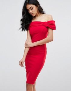 Платье миди с бантиком City Goddess - Красный