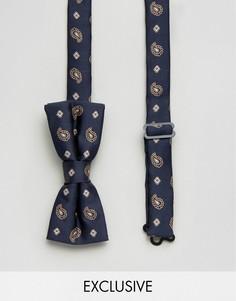 Темно-синий галстук-бабочка с принтом пейсли Reclaimed Vintage - Темно-синий