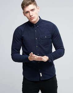 Темно-синяя вельветовая рубашка классического кроя Hollister - Темно-синий