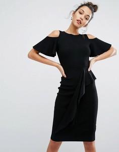 Трикотажное платье с вырезами на плечах Coast - Черный