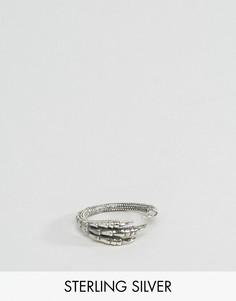 Серебряное кольцо с когтем ASOS - Серебряный