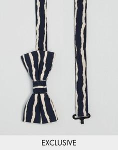 Черный галстук-бабочка в полоску Reclaimed Vintage - Черный