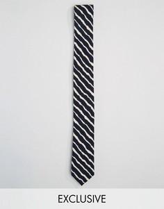 Черный галстук в полоску Reclaimed Vintage - Черный
