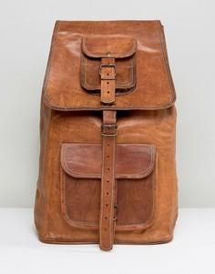 Коричневый кожаный рюкзак Reclaimed Vintage - Коричневый