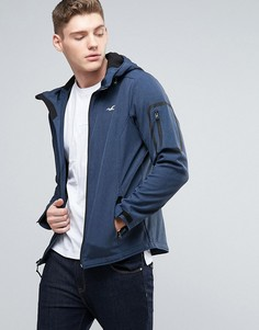 Мягкая темно-синяя куртка с капюшоном Hollister - Темно-синий