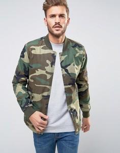 Куртка-пилот с камуфляжным принтом Only & Sons - Зеленый