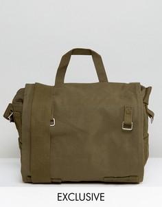 Зеленая парусиновая сумка через плечо Reclaimed Vintage - Зеленый