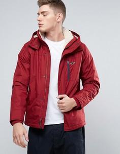 Красная куртка на подкладке из искусственного меха с капюшоном Hollister All Weather - Красный