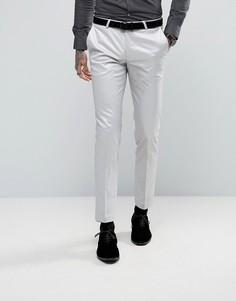 Супероблегающие брюки с оттенком металлик Noose & Monkey - Серебряный