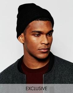 Черная свободная шапка-бини Reclaimed Vintage - Черный
