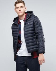 Hollister All Weather Hooded Jacket In Anthracite - Черный