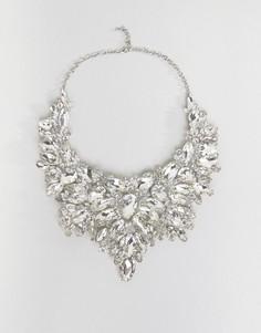 Броское ожерелье со стразами Love Rocks - Серебряный