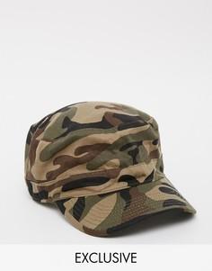 Камуфляжная кепка Reclaimed Vintage Army - Зеленый
