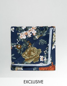 Темно-синий платок-паше с цветочным принтом Reclaimed Vintage - Темно-синий