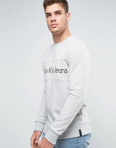 Свитшот с логотипом Calvin Klein Jeans - Серый