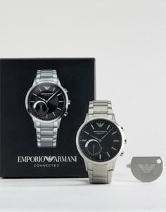 Смарт-часы серебряного цвета из нержавеющей стали Emporio Armani - Серебряный