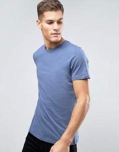 Темно-синяя футболка с круглым вырезом New Look - Синий