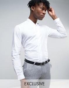 Рубашка с узким шалевым воротником Hart Hollywood - Белый
